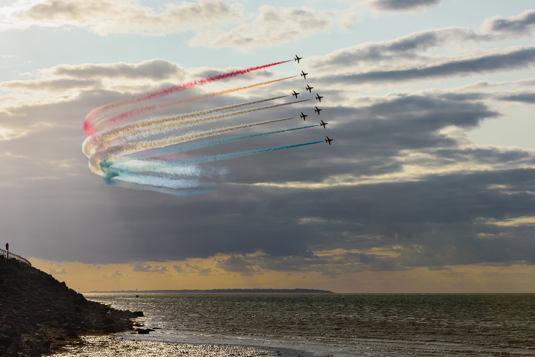red arrows sunset photo