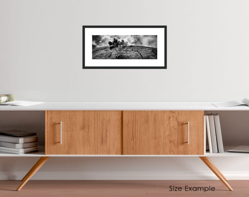 South Africa black and white collectors framed print