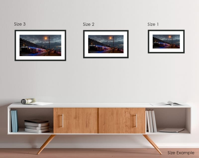 Photo on the Wall Framed Prints