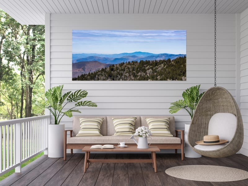metal photo prints for outside spaces