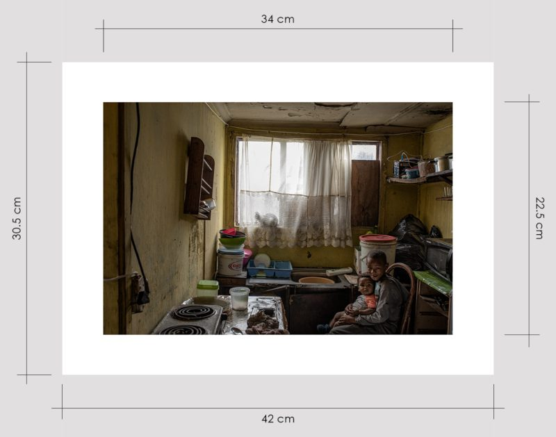 Boy and Baby in Kitchen Limited Edition Prints