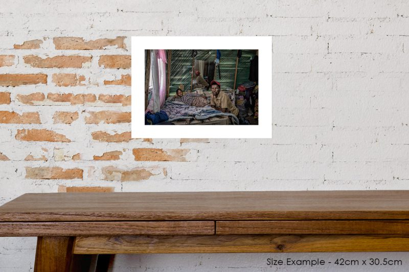 Couple in One Room Shack Prints